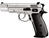 Kimar 75 8MM Semi-Auto Blank Firing Pistol - Nickel Finish
