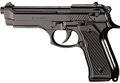 Kimar M92 8MM Semi-Auto Blank Firing Pistol - Black Finish
