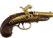 Philadelphia Derringer Cap Firing Replica-Brass
