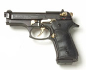 Beretta V92F Compact 9MM PA Blank Firing Guns - Black/Gold