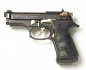 Beretta V92-F Compact 9MM PA Blank Firing Guns - Black/Gold