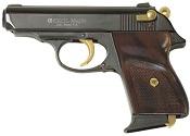 V-PPK 9 MMPA Blank Firing Gun - Black/Gold