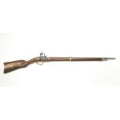 French Model 1807 Non Firing Flintlock Rifle-Brass