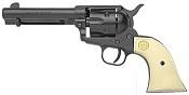 1873 Peacemaker 6MM Blank Gun- Black - Ivory Grips