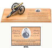 Gettysburg Address & Napoleon Cannon Desktop Display