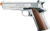 Front Firing 1911 9MMPA Blank Firing Gun-Nickel