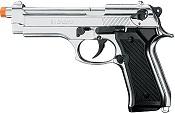 Front Firing M92 Beretta 9MMPA blank firing Gun Nickel