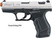 Front Firing Walther P99 9MMPA Blank Gun Nickel