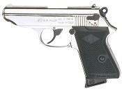 PPK 9MMPA Blank Firing Gun-Nickel