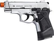 Zoraki 2914 Chrome Semi Auto Front Firing 9MMPA Blank Gun