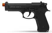 Retay Front Firing MOD 92 9MMPA Blank Firing gun Black