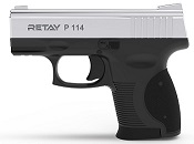 Retay P114 Nickel Front Firing 9MMPA Blank Firing Gun