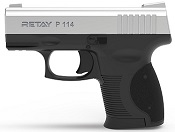 Retay P114 Chrome Front Firing 9MMPA Blank Firing Gun