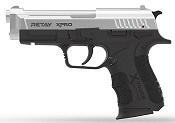 Retay XPRO Chrome 9MMPA Front Firing Blank Firing Gun