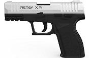 Retay XR Chrome Front Firing 9MMPA Blank firing gun