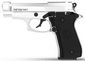 Retay 84FS Chrome 9MMPA Front Firing Blank Firing Gun