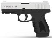 Retay PT24 Chrome Front Firing 9MMPA Blank Firing Gun