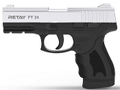 Retay PT24 Nickel Front Firing 9MMPA Blank Firing Gun