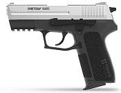 Retay S20 Nickel Front Firing 9MMPA Blank Firing Gun