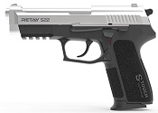 Retay S22 Chrome Front Firing 9MMPA Blank Firing Gun